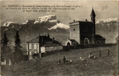 Chignin - Sanctuaire de Saint-Anthelme et la Dent de Granier (1938m - Chignin