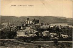 Viviers Vue générale et le Rhone - Viviers