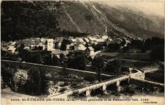 Saint-Etienne-de-Tinee - Vue générale et la Passerelle - Saint-Étienne-de-Tinée