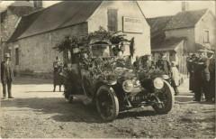 Carte photo Mezieres-en-Brenne Corso Fleuri 1925 - Mézières-en-Brenne
