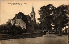 Saint-Aubin le Monial L'Eglise le Chateau et la Place - Saint-Aubin-le-Monial