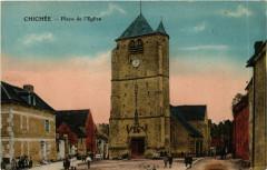 Chichée - Place de l'Eglise - Chichée
