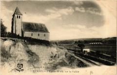 Etigny - L'Eglise et vue sur la Vallée - Étigny