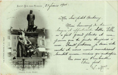 Saint-Die-des-Vosges 21 fevrier 1901 - Statue Jules Ferry - Saint-Dié-des-Vosges
