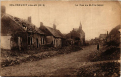 Beaurevoir. La Rue de Saint-Chamond - Beaurevoir