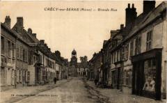 Crecy-sur-Serre Grande Rue - Crécy-sur-Serre
