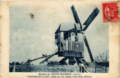 Moulin de Saint-Maxent - Construit vers le Xiv s. sur - Saint-Maxent