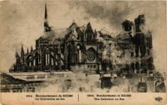 1914 Bombardement de Reims - La Cathedrale en feu 51 Reims