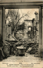 1914 - Reims bombarde - Rue Saint-Symphorien-Reims bombarded - 51 Reims