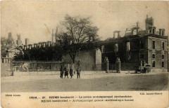 1914 Reims bombarde - Le palais archiepiscopal (Archeveche) 51 Reims