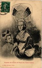 Paysannes des Env. de Troyes sous l'ancien Costume - Oyes