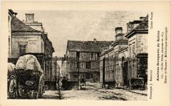 Anciens Remparts de Reims Grille Cerés disparue en 1855-Dessin de 51 Reims