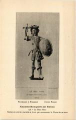 Anciens Remparts de Reims - Le Dieu Mars-Statue en cuivre martale 51 Reims