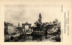 Anciens Remparts de Reims - Porte Paris - Dessin de Maquart - 51 Reims