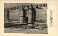 Anciens Remparts de Reims - Ancienne Porte Flechambault-Dessin de 51 Reims