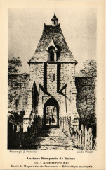 Anciens Remparts de Reims Ancienne Porte Mars Dessin de Maquardt 51 Reims