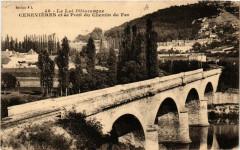 Cenevieres et le Pont du Chemin de Fer - Cénevières