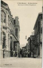 St Jean de Luz Rue Garat et Hotel d'Angleterre France - Anglet