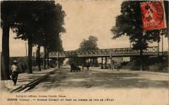 Cenon - Avenue Canot et Pont du Chemin de fer de l'Etat - Cenon