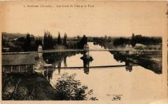 Guitres - Les bords de l'Isle et le Pont - Guîtres