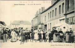 Saint-Valerien Un jour de marché - Saint-Valérien