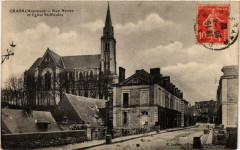 Craon Rue Neuve et Eglise Saint-Nicolas - Craon
