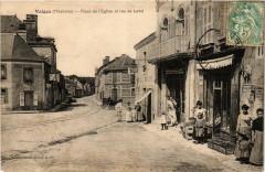 Vaiges Place de l'Eglise et rue de Laval - Vaiges