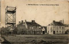 Gorron-Mayenne, La Place du Champ de Foire et l'Eglise - Placé