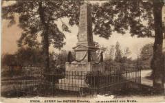 Serre-les-Sapins Le Monument aux Morts - Serre-les-Sapins