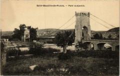 Saint-Bauzille de Putois Pont suspendu - Saint-Bauzille-de-Putois