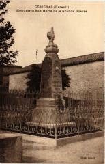 Cesseras Monument aux Morts de la Grande Guerre - Cesseras