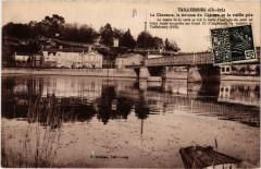 Taillebourg La Charente la terrasse du Chateau la vieille pile - Taillebourg