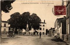 Saint-Hilaire-de-Villefranche La Place et la Gendarmerie - Saint-Hilaire-de-Villefranche