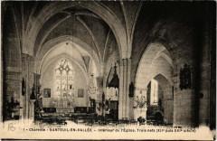 Charente - Nanteuil-en-Vallee - Intérieur de l'Eglise.Trois Nef - Nanteuil-en-Vallée