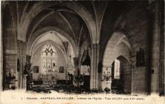 Charente Nanteuil-en-Vallee Intérieur du l'Eglise Trois nef - Nanteuil-en-Vallée