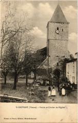 Saint-Sauvant - Porche et Clocher de l'Eglise - Saint-Sauvant
