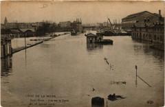 Crue de la Seine - Saint-Denis - Vue sur le Canal - Le 28 Janv. 1910 93 Saint-Denis