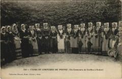 Echire Un Concours de Coiffes a Echire - Types et Costumes Poitou - Cours