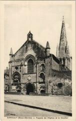 Airvault Facade de l'Eglise et le Clocher - Airvault