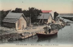 Fos Sur Mer Bords De L'Etang Cabanes De Pecheurs - Fos-sur-Mer