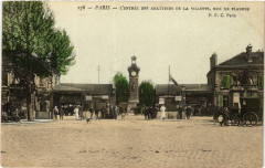 L'entrée des Abattoirs de la Villette, rue de Flandre 75 Paris 19e