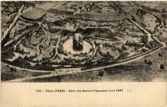 Parc des Buttes Chaumont vers 1867 - Paris 19e