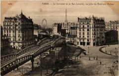Le Carrefour de la Rue Lecourbe, vue prise du Boulevard Pasteur - Paris 15e