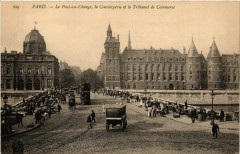 Le Pont-au-Change, la Conciergerie et le Tribunal de Commerce - Paris 4e