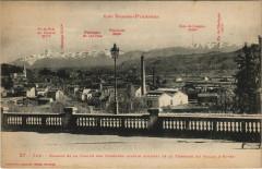 Pau Bizanos et la Chaine des Pyrenees de la Terrasse du Palais - Anos