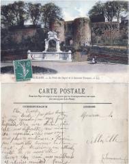 19 Boulogne-sur-Mer — la Porte des Degrés et le Souvenir Français. – Ll v°-rº - Boulogne-sur-Mer