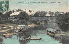 Villeneuve Saint Georges Pont Du Chemin De Fer Tranversant L'Yerres 94 Villeneuve-Saint-Georges