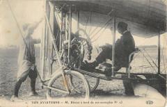 Aviation Nos Aviateurs M.bleriot A Bord De Son Monoplan France