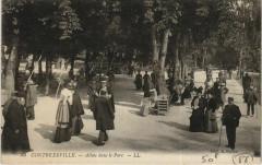 Contrexeville - Allees dans le parc 88 Contrexéville