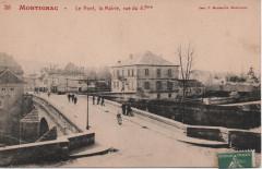 Le pont, la Mairie, rue du 4 septembre - Montignac
